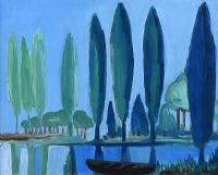 TREES BY THE LOUGH by Markey Robinson at Ross's Auctions
