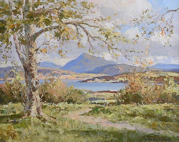 AUTUMN, CREESLOUGH by Maurice Canning  Wilks ARHA RUA at Ross's Online Art Auctions