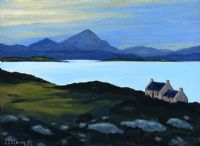 ERRIGAL FROM TORY ISLAND by Sean Loughrey at Ross's Auctions