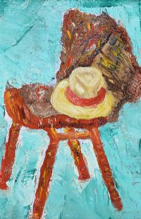 CHAIR WITH PANAMA & GANSEY by Alice McEvoy at Ross's Auctions