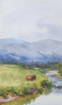 ELEPHANT BY THE RIVER by Coralie de Burgh Kinahan at Ross's Auctions