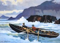 INTO THE SURF, DUNQUIN, COUNTY KERRY by John F. Skelton at Ross's Auctions