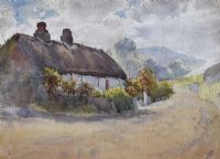 OLD IRISH COTTAGE by Lilian Lucy Davidson ARHA at Ross's Auctions