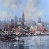 DOWNTOWN REFLECTIONS by Colin Gibson at Ross's Auctions