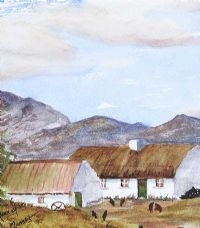 IRISH THATCHED COTTAGE by Joan Murray at Ross's Auctions