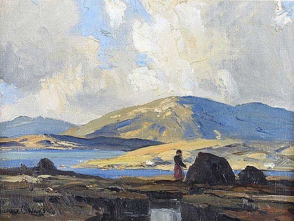 TURF STACK, CONNEMARA by Maurice Canning  Wilks ARHA RUA at Ross's Online Art Auctions