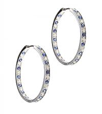 9CT WHITE GOLD DIAMOND AND SAPPHIRE EARRINGS at Ross's Auctions