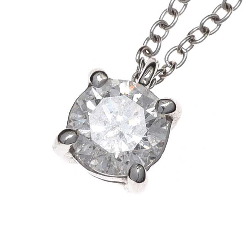 18CT WHITE GOLD DIAMOND PENDANT AND CHAIN at Ross's Online Art Auctions