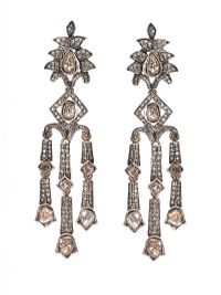 VINTAGE 9CT GOLD DIAMOND EARRINGS at Ross's Auctions
