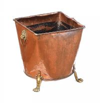 COPPER LOG BUCKET at Ross's Online Art Auctions