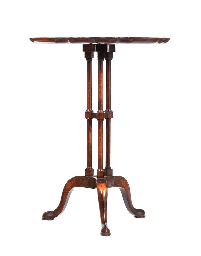 MAHOGANY LAMP TABLE at Ross's Online Art Auctions