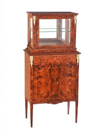 WALNUT DISPLAY CABINET at Ross's Auctions