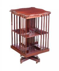 EDWARDIAN MAHOGANY REVOLVING BOOKCASE at Ross's Auctions