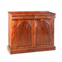 VICTORIAN MAHOGANY TWO DOOR SIDE CABINET at Ross's Auctions