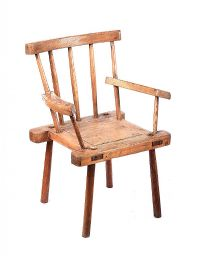 EIGHTEENTH CENTURY HEDGE CHAIR at Ross's Auctions