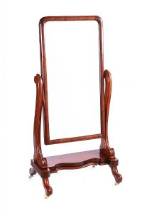 VICTORIAN MAHOGANY CHEVAL MIRROR at Ross's Auctions