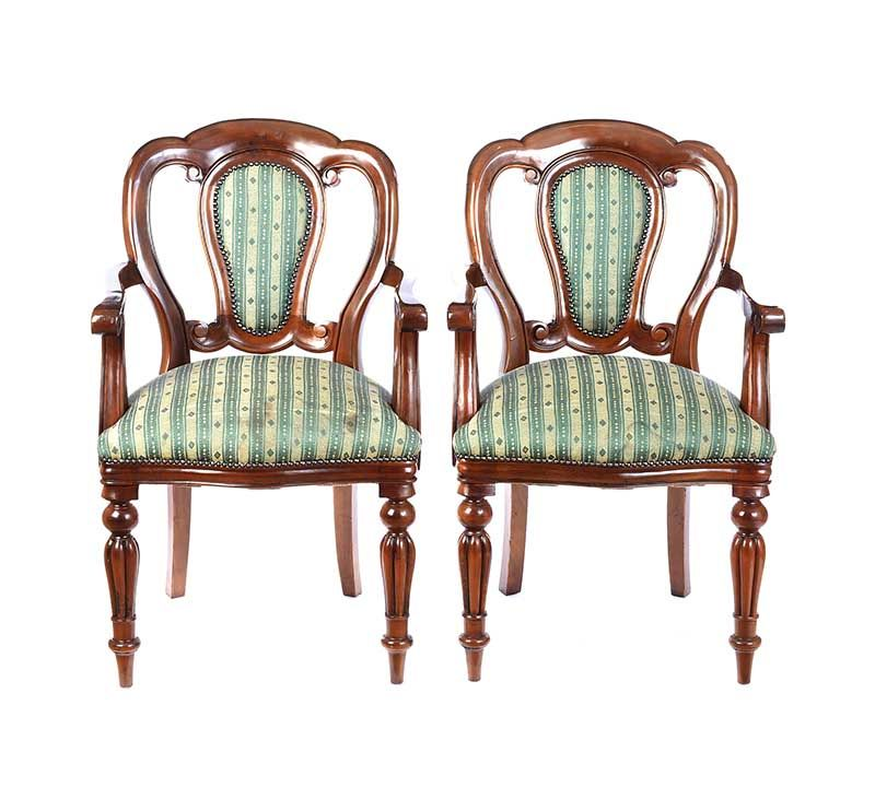 PAIR OF BALLOON BACK ARMCHAIRS at Ross's Online Art Auctions