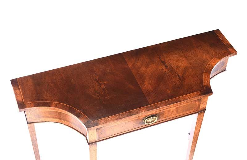 INLAID MAHOGANY HALL TABLE at Ross's Online Art Auctions