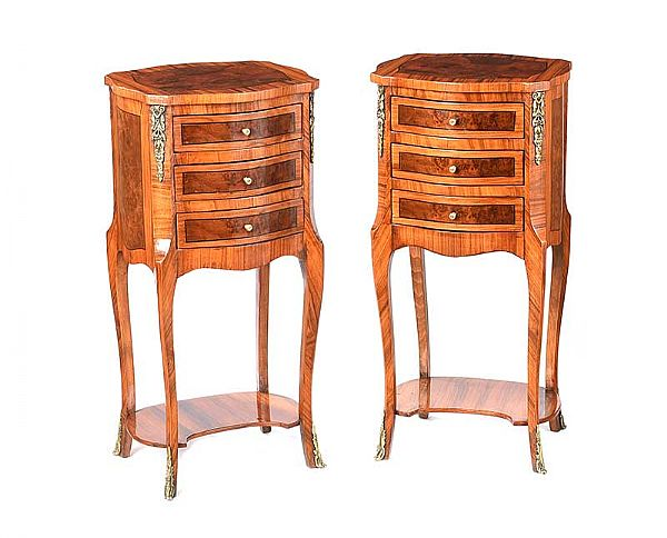 PAIR OF FRENCH BEDSIDE PEDESTALS at Ross's Online Art Auctions