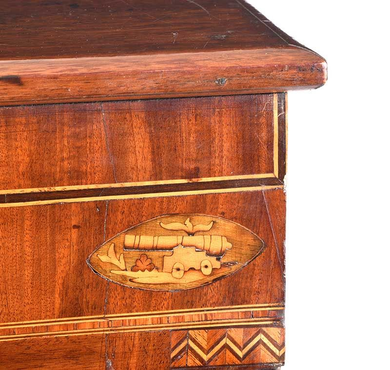 GEORGIAN MAHOGANY CHEST OF DRAWERS at Ross's Online Art Auctions