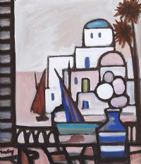 WINDOW VIEW TO THE HARBOUR by Markey Robinson at Ross's Auctions