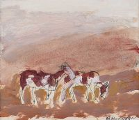 TRAVELLER'S HORSES by Basil Blackshaw HRHA HRUA at Ross's Auctions