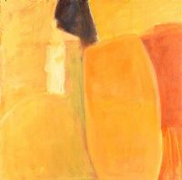 YELLOW ABSTRACT by Leah Beggs at Ross's Auctions