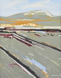 LANDSCAPE WITH DISTANT MOUNTAINS by Michael Brown at Ross's Auctions