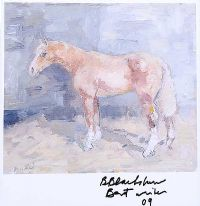 STANDING HORSE by Basil Blackshaw HRHA HRUA at Ross's Auctions
