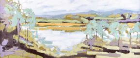 LOUGH THROUGH THE TREES by Michael Brown at Ross's Auctions