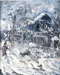 WINTER VILLAGE by Russian School at Ross's Auctions