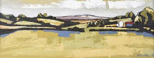 LANDSCAPE WITH FARM BUILDINGS by Michael Brown at Ross's Auctions
