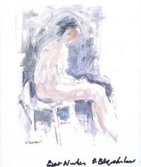 SEATED NUDE STUDY by Basil Blackshaw HRHA HRUA at Ross's Auctions
