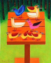THE BIRD TABLE by Graham Knuttel at Ross's Auctions