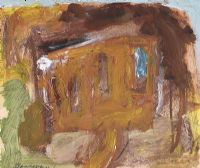 YELLOW HOUSE by Basil Blackshaw HRHA HRUA at Ross's Auctions
