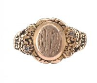 9CT GOLD DIAMOND SIGNET RING at Ross's Jewellery Auctions