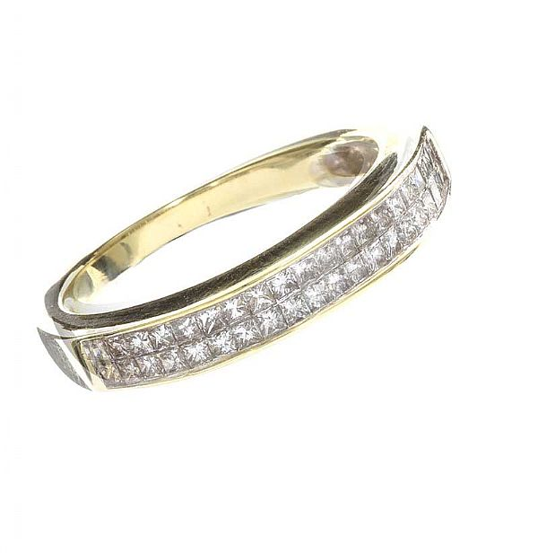 9CT GOLD DIAMOND BAND at Ross's Online Art Auctions