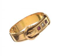 18CT GOLD RUBY AND DIAMOND RING at Ross's Jewellery Auctions