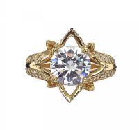 18CT GOLD CUBIC ZIRCONIA RING at Ross's Jewellery Auctions
