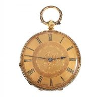 18CT GOLD BAUME OPEN-FACED POCKET WATCH at Ross's Online Art Auctions
