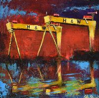 THE CRANES OF BELFAST by John Stewart at Ross's Auctions