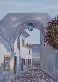 ARCHWAY DOWN TO THE BEACH, ALGARVE by Joaquim Serrano at Ross's Auctions