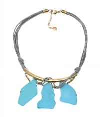 GOLD-TONE TURQUOISE NECKLACE at Ross's Jewellery Auctions
