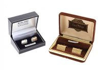 TWO PAIRS OF CUFFLINKS at Ross's Jewellery Auctions