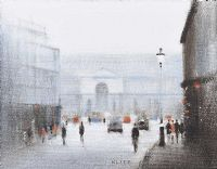 A LONDON STREET by Anthony Klitz at Ross's Auctions