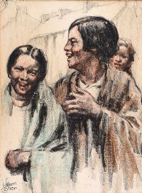 BELFAST MILL GIRLS by William Conor RHA RUA at Ross's Auctions