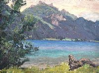 THE LAKE by Letitia Marion Hamilton RHA at Ross's Auctions