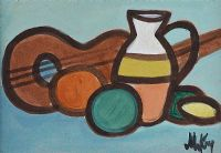 STILL LIFE, FRUIT JUG, ETC by Markey Robinson at Ross's Auctions