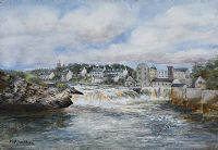 ASSAROE FALLS ON THE ERNE, BALLYSHANNON by M.I. Allingham at Ross's Auctions