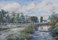 THE RUINS OF ABBEY ASSAROE, BALLYSHANNON by M.I. Allingham at Ross's Auctions